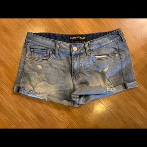 Express Jeans Denim Shorts Relaxed Fit Low Rise